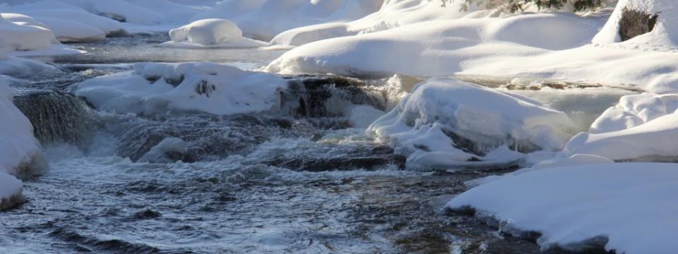 L'eau pure de la rivière à Simon